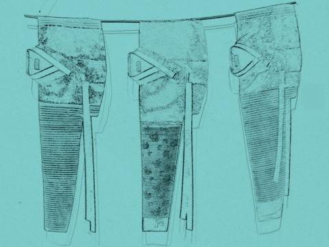 韓服の展示方法