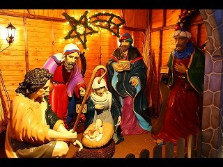 キリスト誕生の場面