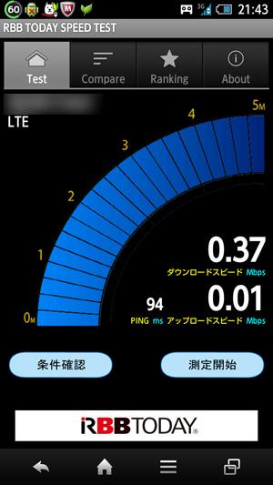 4G スピードテスト