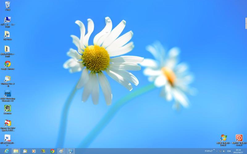 Windows8 デスクトップ画面