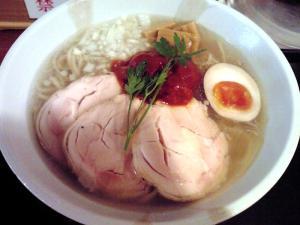 JUNK STORY 冷やし鶏貝らーめん ~麺の上のポニョ~