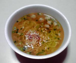革麺 黄金鶏油の塩らぁ麺(できあがり)