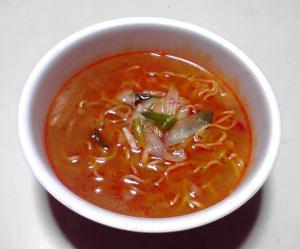 究麺 夏期限定 ねぎ辛味噌(できあがり)