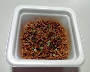黒辛カレー焼そば(できあがり)