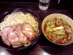 綿麺 フライデーナイト Part52 (13/8/23) 焼きネギと油かすのつけ麺