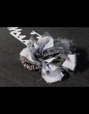 コサージュ/ブラックMIX(先染め織り模様)