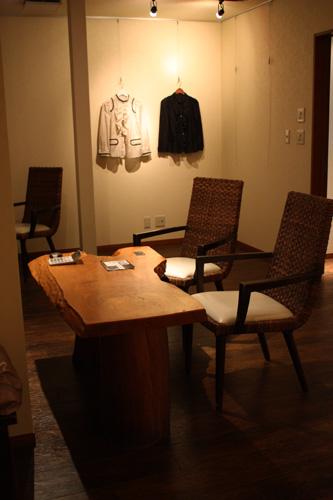 日本製ハンドメイドファッション・アクセサリーブランド【mii】展示販売の様子