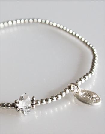 シルバーブレスレット(両剣水晶 silver925)