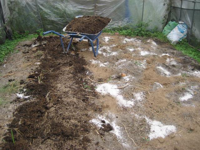 野菜を植える準備