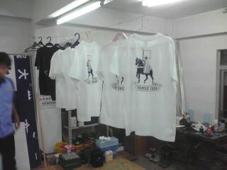 Tシャツ乾燥中