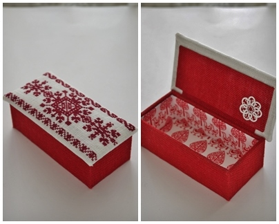 小箱 長方形 赤