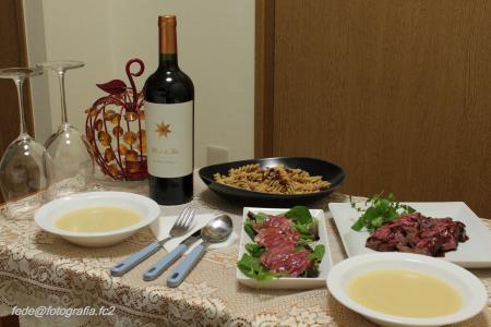 Hannaちゃんとの晩ご飯