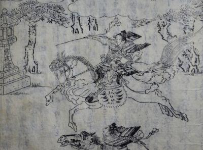 都名所図会より駈馬神事