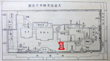 東本願寺平面図(大正11年)