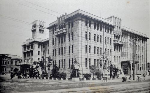 昭和初期の京都市庁舎(『京都名勝誌』)