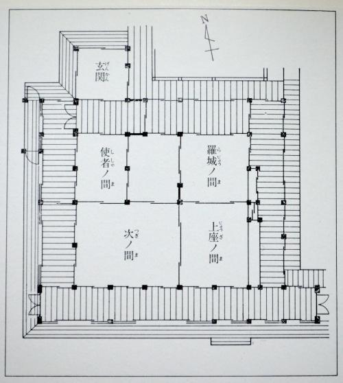 東寺観智院平面図