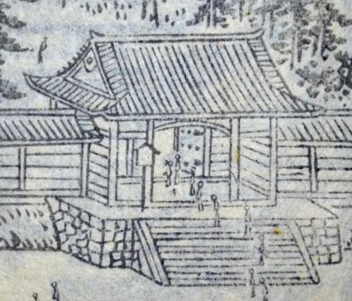「花洛名勝図会」より三十三間堂西門