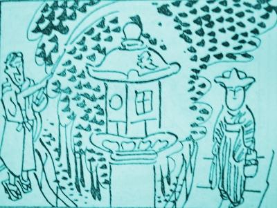 岡本一平「京都の神社仏閣巡り」
