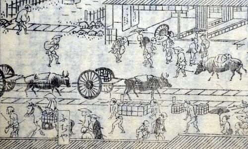 「花洛名勝図会」の車石