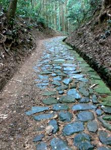 萩往還の石畳