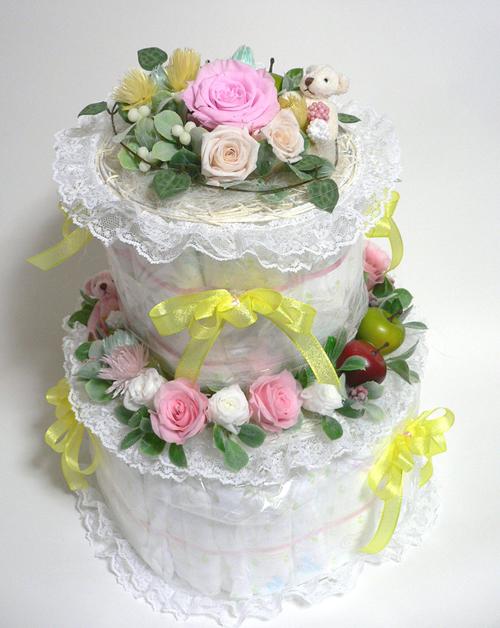 オムツケーキピンクブログ