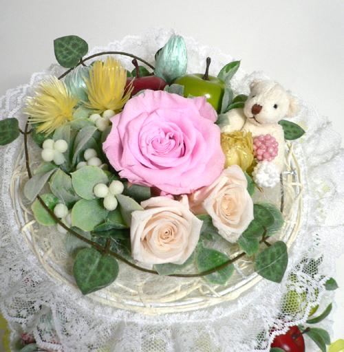 ピンクのおむつケーキ上ブログ用