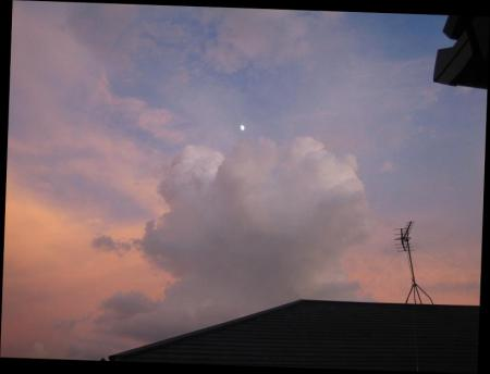 夕焼けとお月さま 027