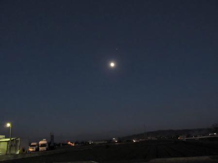 夕陽と多良岳 063