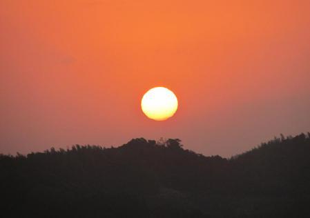 清水の朝日 058
