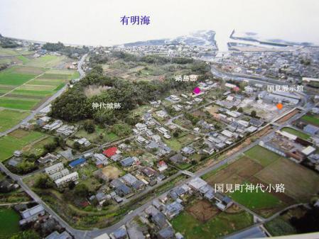谷川竹林と島原地図 128