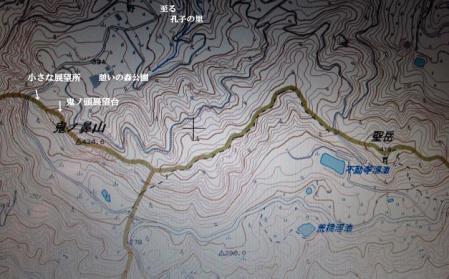 向日葵と鬼の鼻山地図 142