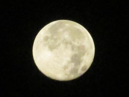朝の月と天山 003