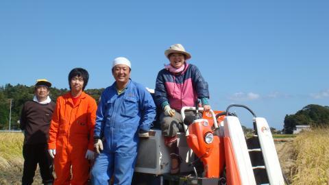 木村さん一家総出の収穫