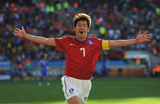 Park Ji-Sung, South Korea vs Greece