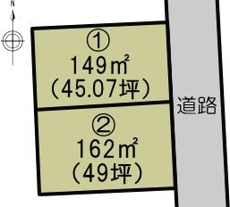 ビオトープ立田の杜 龍田陳内2丁目配置図