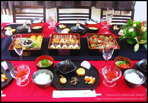 *2012 yocchin's おせち Table coordination*