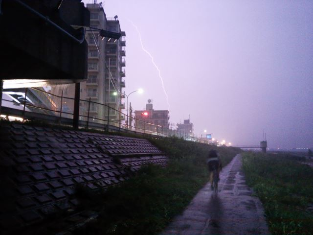 豪雨の通勤ライド