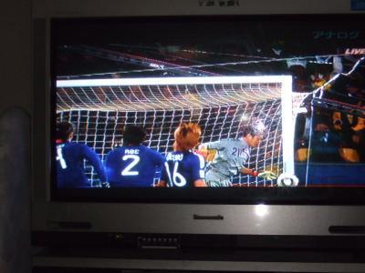サッカー見たよ♪
