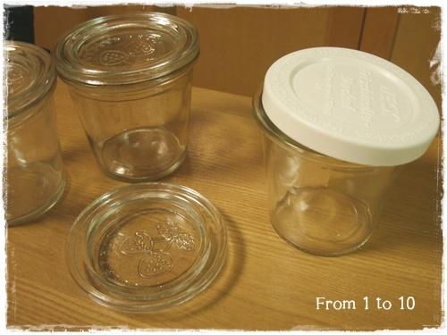 セリアガラス容器蓋
