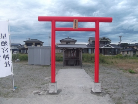星迺宮神社(仮社殿前)