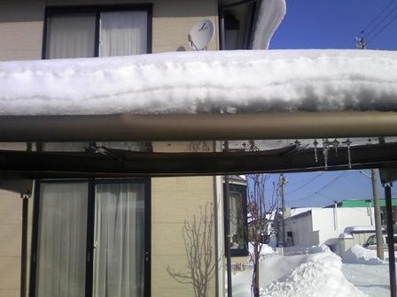 秋田 カーポート 雪 1