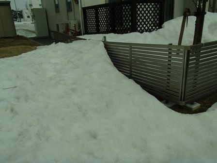 秋田 御野場 フェンス 雪害