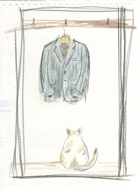 猫とツイードジャケット