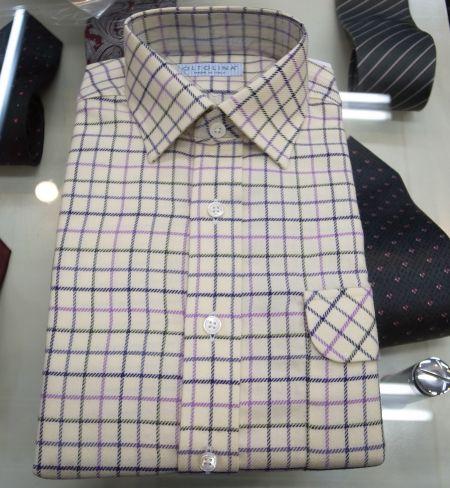 ネル生地のオーダーワイシャツ