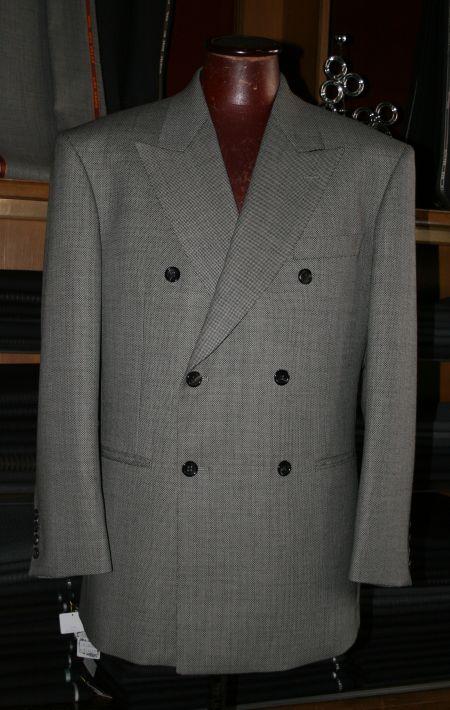 ダブルの6Bスーツ(バーズアイ)