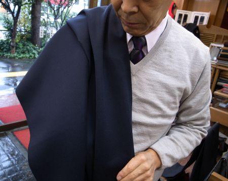 コート用服地紺