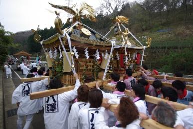 八沢神輿と菖蒲神輿
