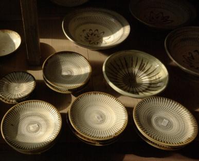小鹿田焼の皿