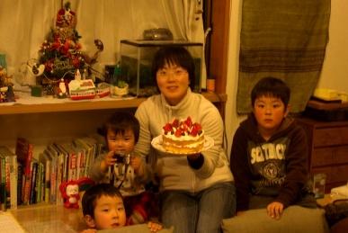 クリスマスケーキ完成