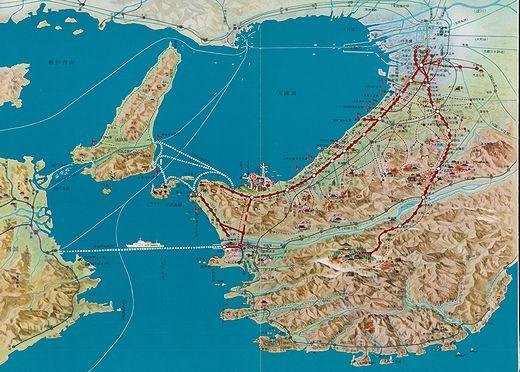 昭和32年当時の南海路線図-1